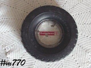 Firestone Rubber Tire Advertising Ashtray