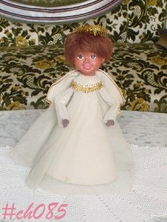 Angel of Color Vintage Tree Topper