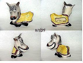 McCOY POTTERY -- SMILING HORSE DRESSER CADDY