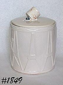 McCOY POTTERY -- DRUM COOKIE JAR