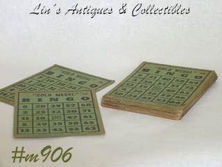 Vintage Gold Medal Bingo Cards