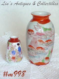 GEISHA GIRL BUD VASES TWO BUD VASES IN LISTING