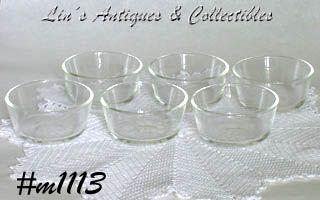Fire King Glass Custard Bowls Set of 6