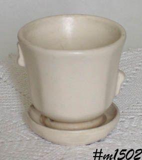 Shawnee Pottery Matte White Flowerpot