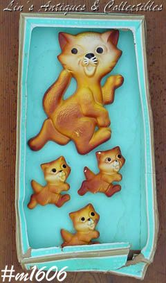 VINTAGE CHALK-WARE CAT FAMILY BY MILLER STUDIOS