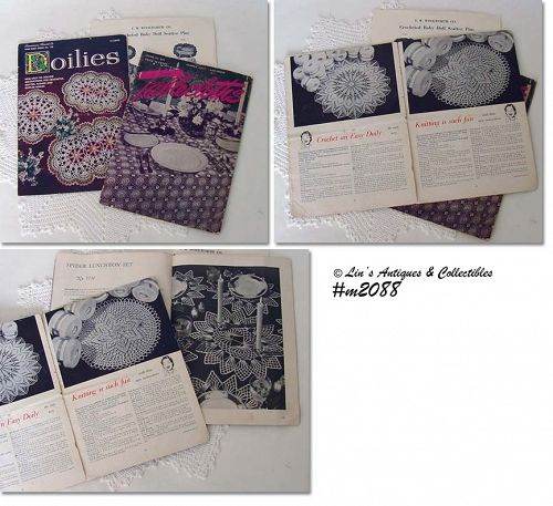 DOILIES AND TABLECLOTHS VINTAGE INSTRUCTION PATTERN BOOKLETS