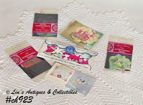 Vintage Christmas Original Package Seals Decorations