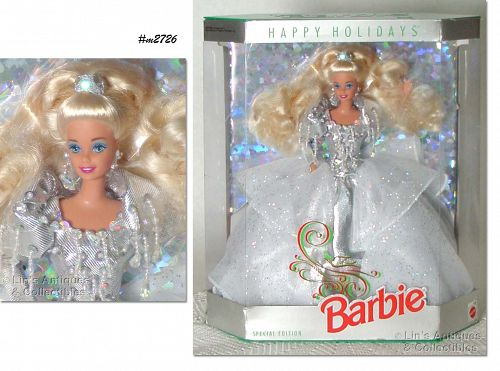 1992 HAPPY HOLIDAYS BARBIE DOLL NEVER REMOVED FROM BOX