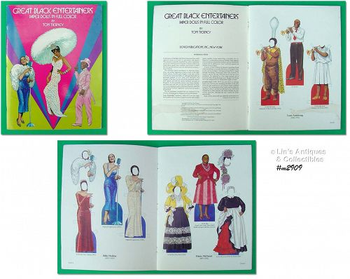 Black Entertainers Paper Doll Book Tom Tierney