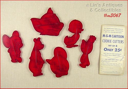 MGM Cookie Cutters Set of 6 Dated 1956