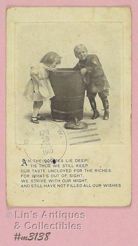 Vintage Postcard of Children Postmarked 1910