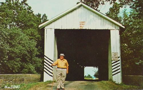 Covered Bridge Postcard Moore Bridge Gibson Co Indiana