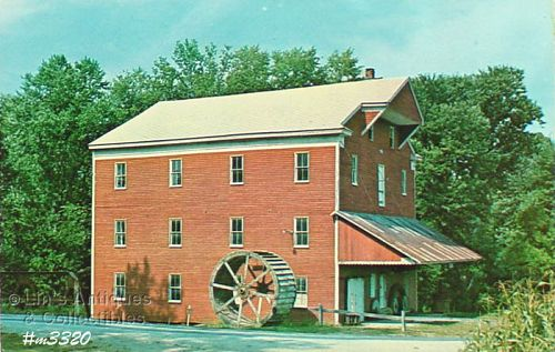 Vintage Postcard Water Power Mill Carroll Co Indiana
