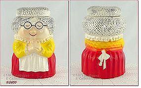 McCOY POTTERY � GRANDMA (GRANNY) COOKIE JAR (RED DRESS)