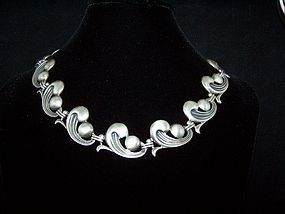 Ledesma Vintage Mexican Silver Swirl Necklace