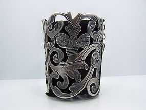 Exceptional Mammoth Vintage Mexican Silver Bracelet