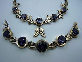 Patino Vintage Mexican Silver Set Necklace Bracelet
