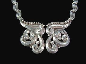 Margot de Taxco Mexican Silver 5184 Necklace  Pectoral