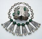 C. Molina For Anton's Vintage Mexican Silver Necklace & Bracelet