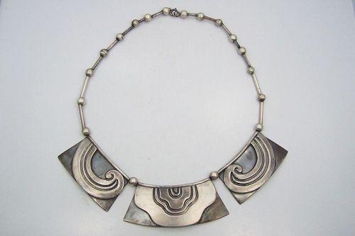 Los Castillo Waves Vintage Mexican Silver # 142