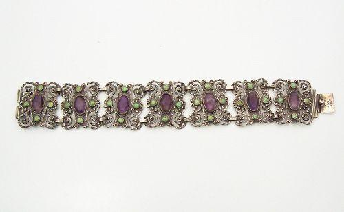 Dominguez Amethyst Old Mexico City Folk Bracelet