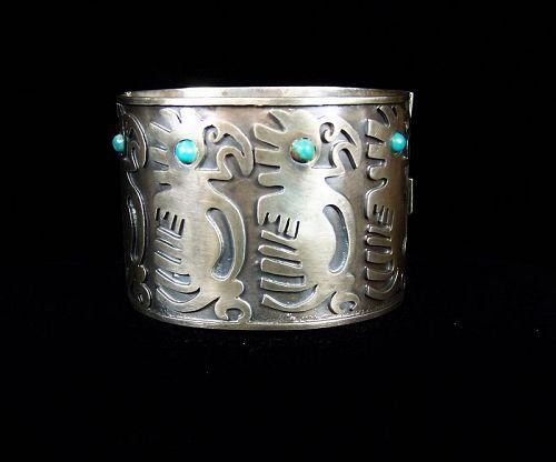 Fred Davis Vintage Mexican Silver Parrot Bracelet