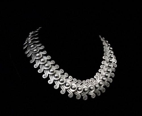 Los Castillo Columbian Swirl # 263 Vintage Mexican jSilver Necklace