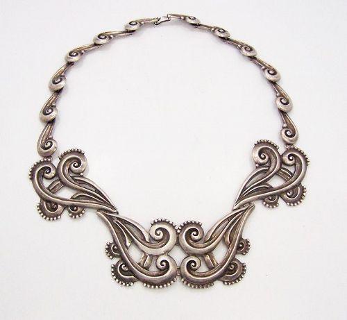 Margot de Taxco  #  5161  Vintage Mexican Silver Necklace