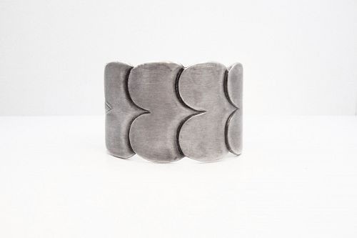 Hector Aguilar Clouds Vintage Mexican Silver Cuff Bracelet