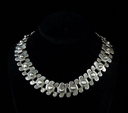 William Spratling  Early Vintage Mexican Silver Necklace