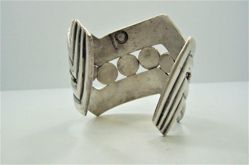 William Spratling Vintage Mexican Silver V Cuff Bracelet