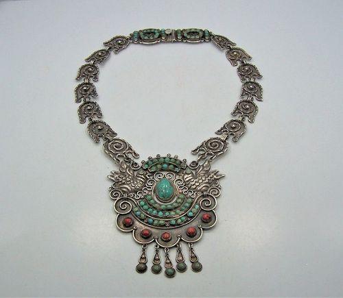 Matl Matilde Poulat Palomas Iconic Vintage  Mexican Silver Necklace