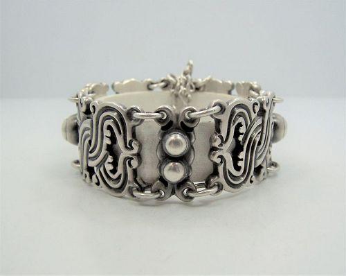 Spratling Vindobonensis Vintage Mexican Silver Bracelet