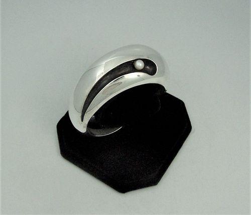 Antonio Pineda Vintage Mexican Silver Pearl Bracelet