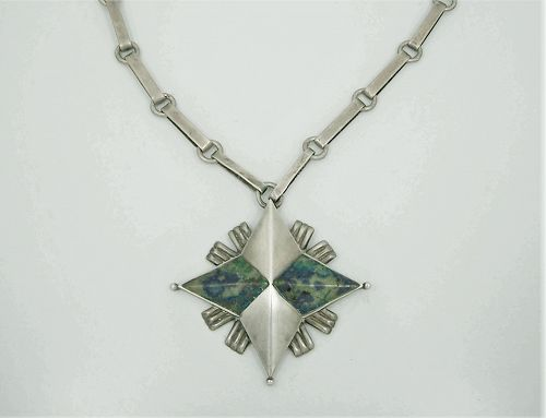 William Spratling North Star Vintage Mexican Silver Necklace