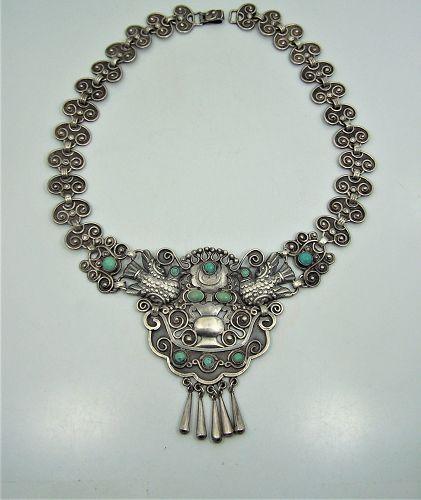 Matl Matilde Poulat Paloma Vintage Mexican Silver Necklace