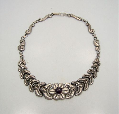 Velazquez Mexico City Folkwork Amethyst Necklace