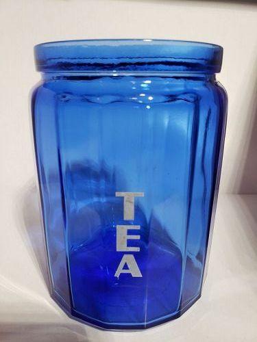 Hazel Atlas Cobalt Blue Tea Canister