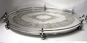 James Dixon English Silver Plate Tray, English C.1890
