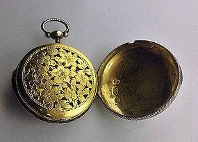 Georgian Vinaigrette Watch Form Birmingham 1817 S. Pemb