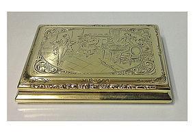 Gold Snuff Card Case Box