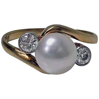 Diamond and Pearl 18 Karat Ring, circa 1920