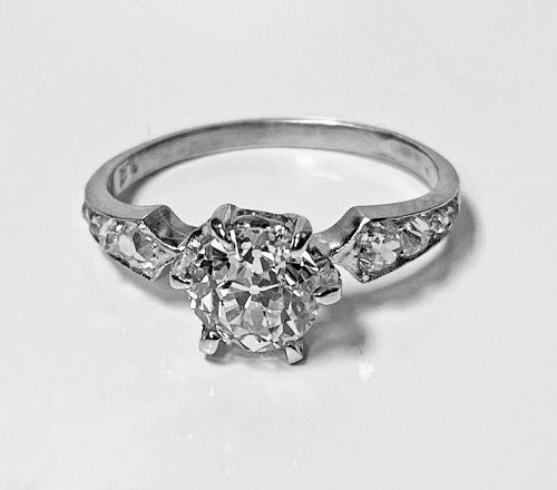 Antique Platinum Diamond Ring, circa 1910
