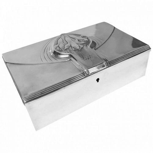 Jugendstil Nouveau Secessionist Silver Plate Box, WMF Germany, circa 1