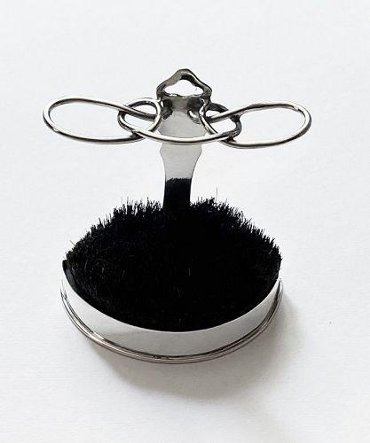 Silver Quill Pen Stand Nib Brush Wipe London 1902 William Comyns