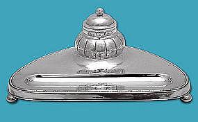 Scandanavian Silver Inkstand Sweden C.1930 GAB