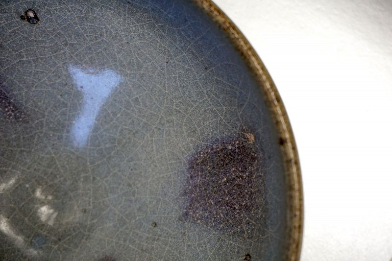 Late Song or Yuan Dynasty Jun Yao Bowl with a Crackled Glaze
