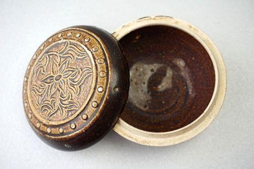 Ming Dynasty Fujian Kiln Brown-Glazed Porcelain Covered Box