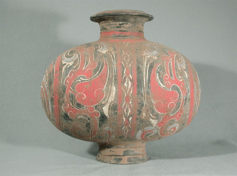 Superb Western Han Cocoon-Shaped Jar in Excellent Condition