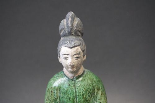A Female Sancai Tomb Figure - Ming Dynasty